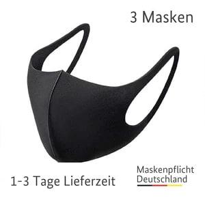 schwarze neopren stoffmaske